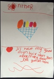 Demi (6 jaar) over Günther